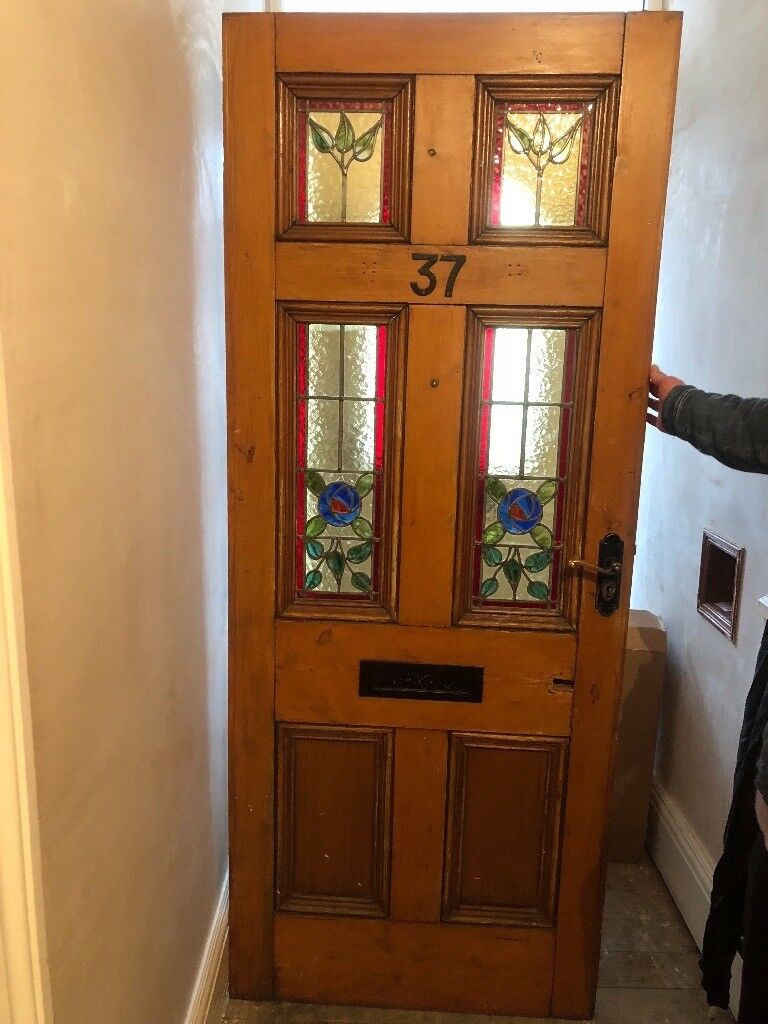 Solid Wood Front Door With Stained Glass Sensible Offers In Hull