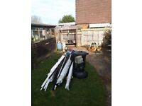 Selection of black waste pipe, white overflow & white pex