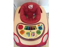 NEW CHICCO BAND RED BABY WALKER EXCELLENT CONDITION