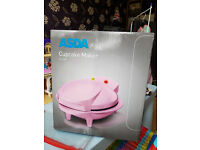 CUPCAKE MAKER ELECTRIC NON STICK 7 CAKES PINK - NEW