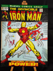 Iron Man Marvel 47 20c June Canvas Print 81.3 x 60.5 cm (36 x 24in) Nearly New Condition