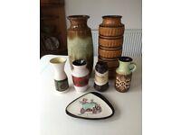 Job lot of West German Vases / Ceramics. Vintage, Mid-Century, Retro.