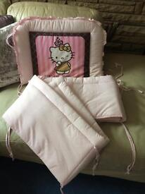 Hello Kitty Cot Bumper- goes all round the cot