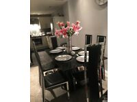 Harvey's Dining Table and six chairs