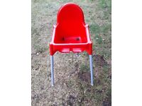 Childs high chair.