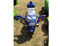 Ride on electric children's 3wheel police scooter