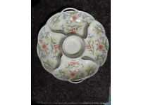 Topimpex Pottery Flowered Dip Server.