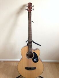 Lindo full size electro acoustic bass guitar