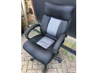 Charcoal / light grey fabric office chair