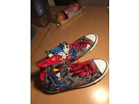 Size 8 superman converse all saints