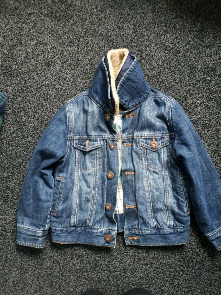 58b2c9996 Next boys denim jacket thick lining age4-5