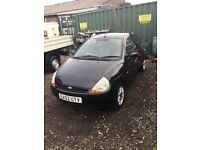 Ford ka with full black leathe interior low mileage service history with air con and alloys and cd