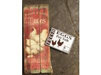 Chicken eggs sign