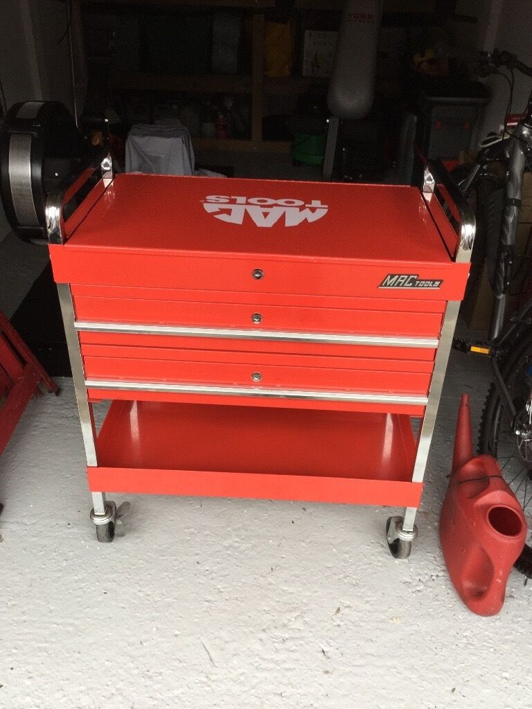 Snap On Mac Tools Service Cart Tool Trolley Mobile Work
