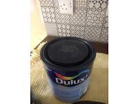 Brand new tin of Dulux Baby Blue Matt Emulsion 2.5 Ltr.