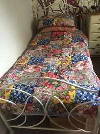 TWO WHITE POST BEDS FOR SALE