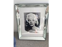 Marilyn Monroe picture with mirror frame