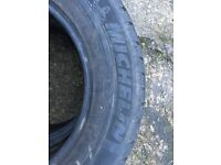 2 x Michelin all weather tyres