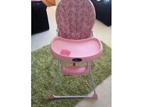 Pink Highchair £30