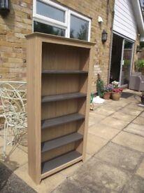 shelf unit in maple finish