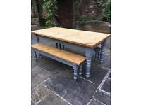 Kitchen Table with 2 Benches