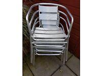 12 Aluminium chairs £15.00 each