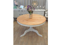 Beautiful solid pine shabby chic dining table for 4-6 people