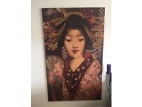 Very Large Installation Wall Art / Painting - Reproduction of Geisha Girl - by George Henry 1894