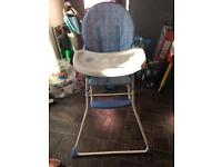 Blue high chair and fetal Doppler