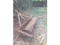 James Case Wrekin Foundry 8ft field Roller