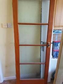 Internal door glazed