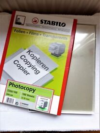 50+ A4 TRANSPARENT PHOTOCOPY SHEETS FOR OHP