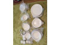 Dinnerware / Crockery / Plain white -12 of each