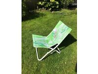 """John Lewis """"Leaf White"""" folding beach, garden, camping chairs BRAND NEW 3 available"""