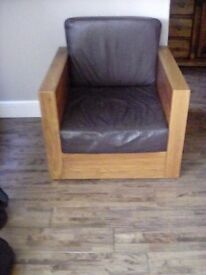 Solid wood armchairs in vgc