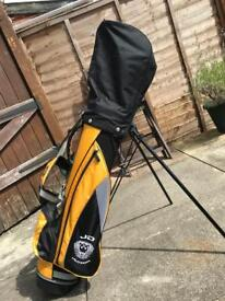 Junior golf set + bag (right handed clubs)
