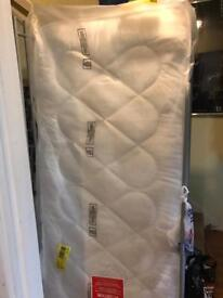 Mid sleeper bed & brand new sealed mattress
