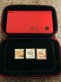 Super Mario 25th anniversary DSi XL (FULLY REFURBISHED) 9.5/10 quality. Including 3 Pokemon games