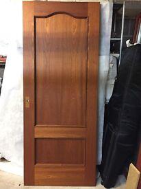 Hardwood panel door