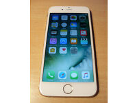 Apple iphone 6 in Gold and White, 16Gb locked to O2/ GiffGaff.