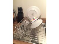 Chrome Wire Folding Dish Drainer Rack
