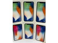 iPhone X UNLOCKED 256GB like new open on all network with box AND APPLE warranty