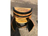 Stunning oak whiskey barrel cabinet