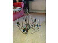 Brass effect chandelier