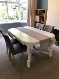 Unique antique white dining table
