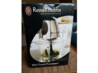 Russell Hobbs Mini Food Processor unused and still boxed with glass bowl.