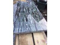 GRANITE SLAB OFFCUT 800 X 390mm green/black/white 30mm THICK (WORKTOP)