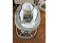 Baby bouncer. Vibrates and plays music