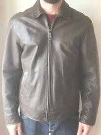 Men's brown leather jacket from marks genuine