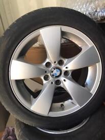 """BMW 17"""" alloys tyres 5 series vw T5 vivaro etc"""